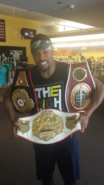 Willie Monroe with all 3 Championship Belts