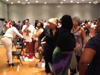 Crowd Enjoying the Women for Women Event