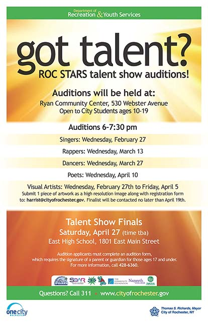 ROC Stars Talent Show Auditions
