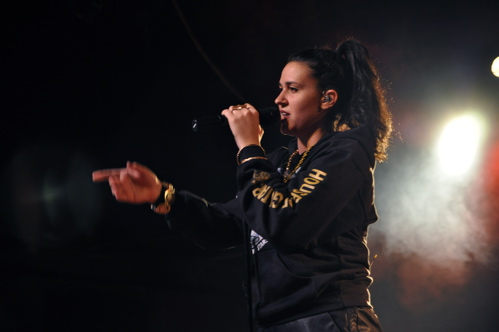 Kat Dahlia On Stage at Watersteet