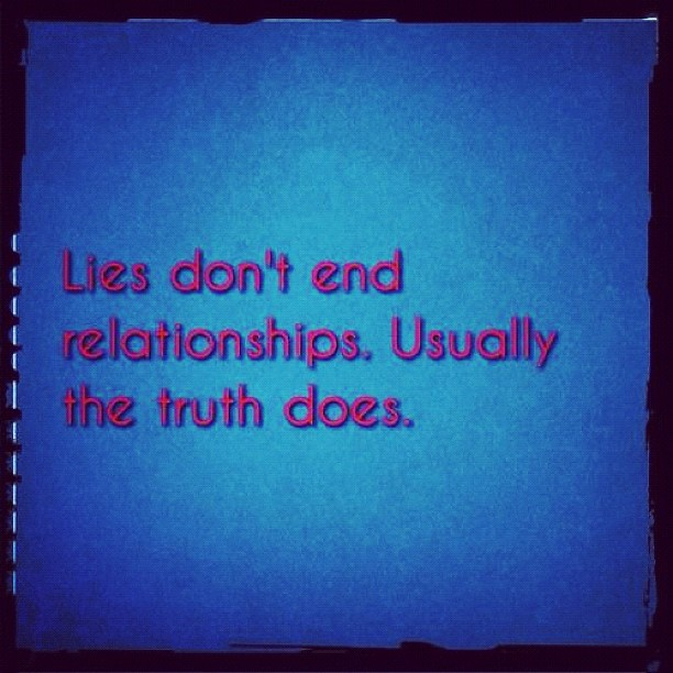 Lies and Relationships