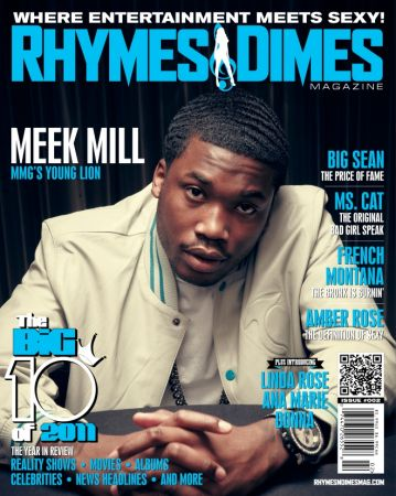 Meek Mill on the cover of Rhymes and Dimes Magazine