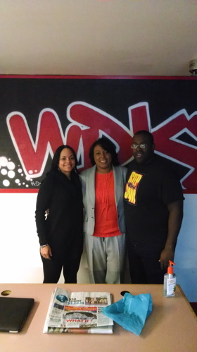 Mayor Lovely Warren with DJReign and Tariq Spence