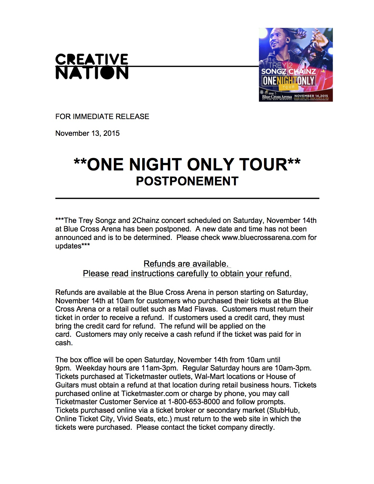 OneNightOnlyTourPostponement 2
