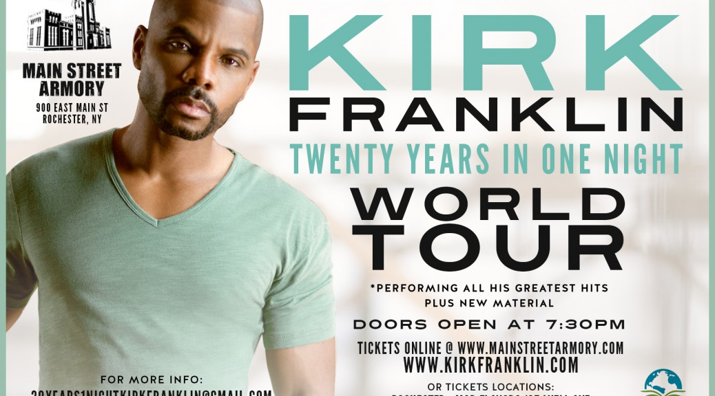 Kirk Franklin in Roc June 17th