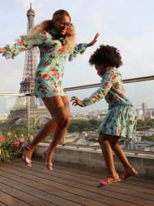 Beyoncé and Blu Ivy via beyonce.com