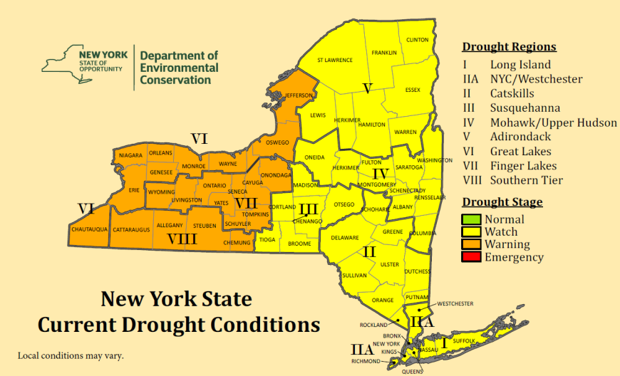 Drought Warning For Many Counties In NY WDKXcom - How many counties are in delaware