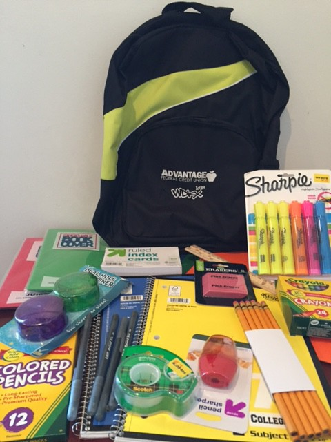 Bookbag and Supplies
