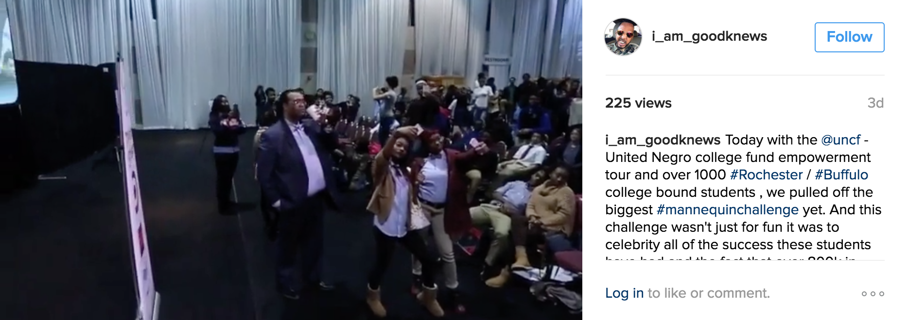 UNCF Mannequin  Challenge Empower Me Tour HBCU Rochester NY Filmed By GoodKnews