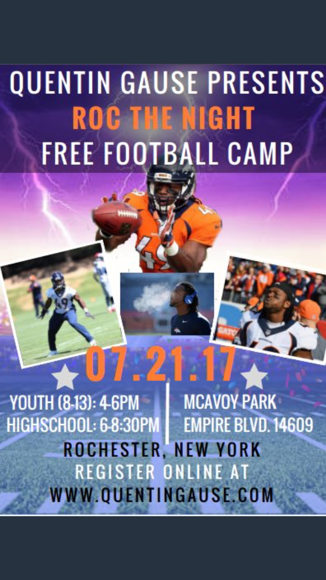 Cheap Free Football Camp from Denver Broncos Quentin Gause  supplier
