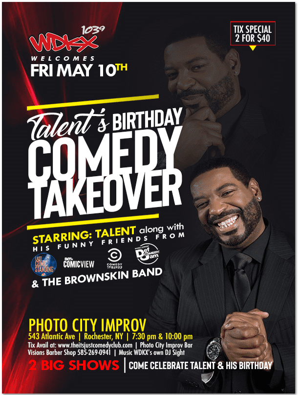 Talent's Birthday Comedy Takeover! | WDKX