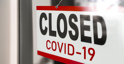 """Sign that says """"Closed COVID-19"""""""